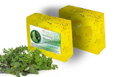 sapone alla menta e erbe aromatiche